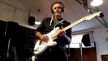 Playing a solo in the studio